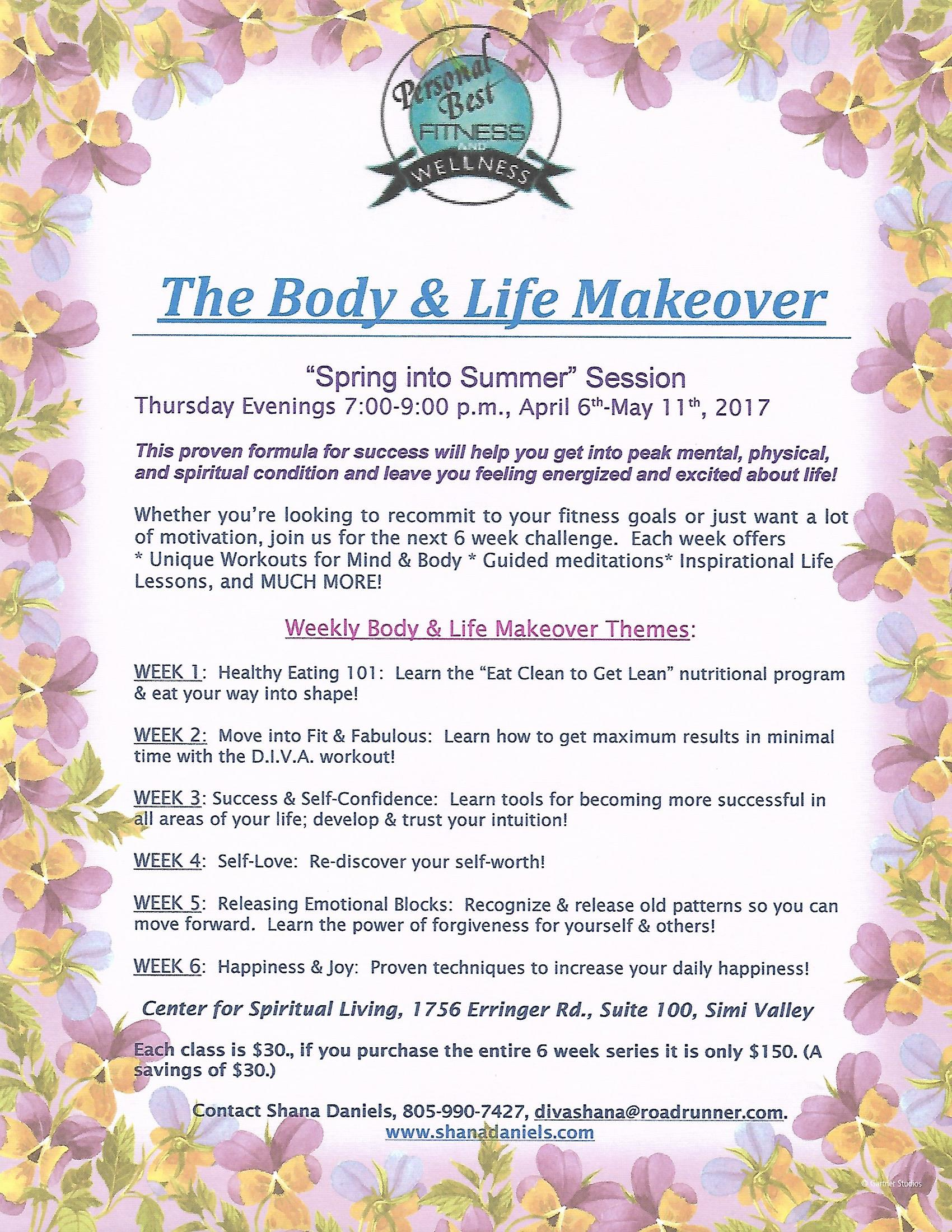 Body and Life Makeover Class with Shana Daniels