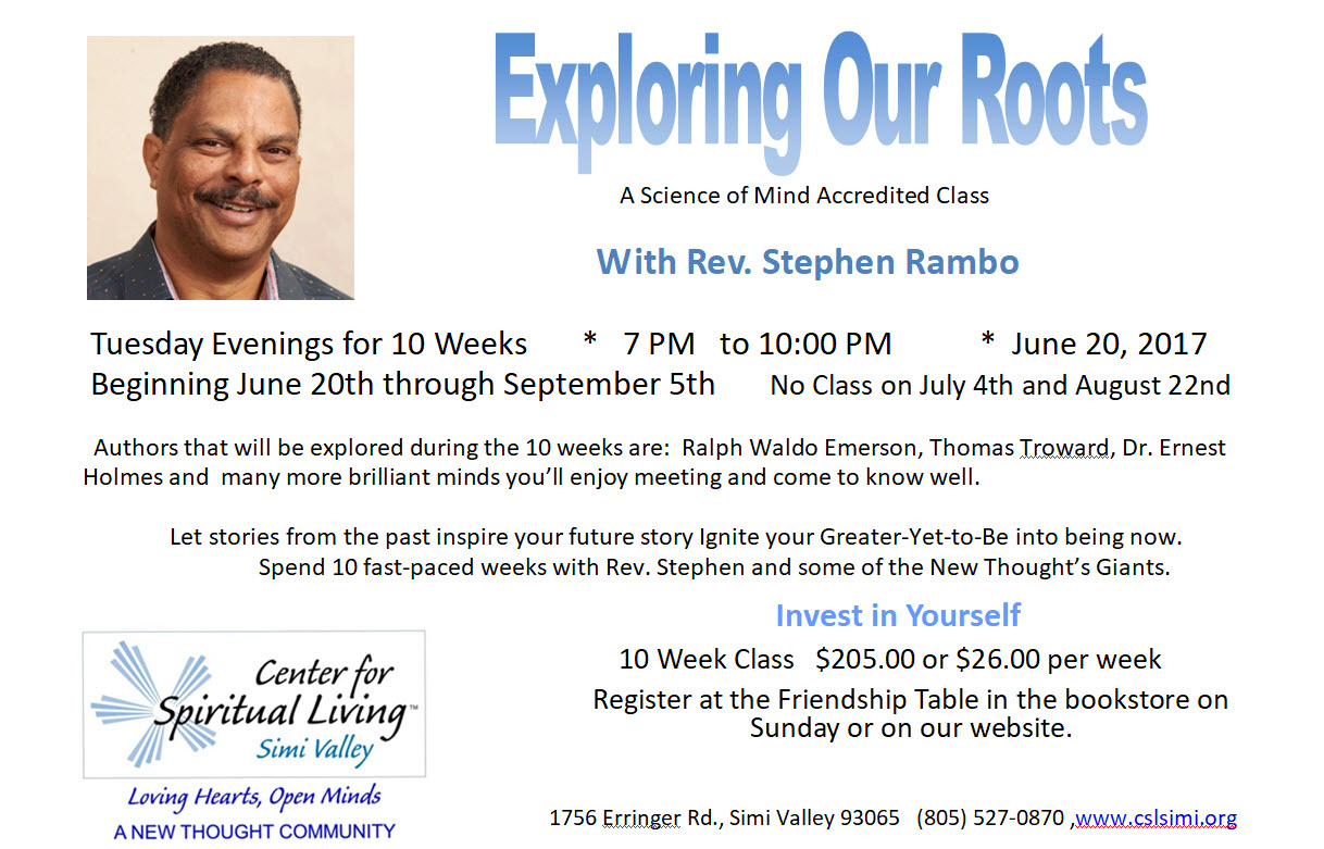 Exploring Our Roots Class with Rev. Stephen Rambo