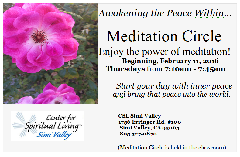 Thursday Morning Meditation Circle with Michele Roberts